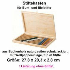 Malerkoffer-Kuenstlerkoffer-Pinseletui-Zeichenkasten-Stiftekasten-leer-Holz