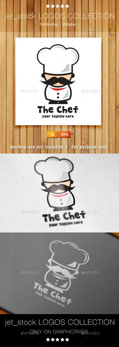 The Chef — Vector EPS #menu #funny • Available here → https://graphicriver.net/item/the-chef/9266663?ref=pxcr