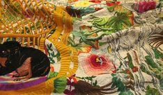 Over The Rainbow – Selvedge Magazine Bauhaus Textiles, Chinese Babies, Contemporary Embroidery, Over The Rainbow, Textile Patterns, Embroidery Art, Backdrops, Artist, Speakers