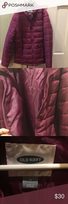 Old Navy jacket Old Navy women's jacket in plum color, great condition. Jackets & Coats