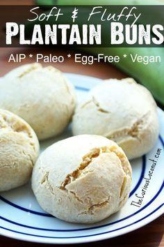 Soft, Fluffy, Plantain Buns (#AIP, #Paleo, #vegan)
