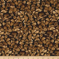 Timeless Treasures Cabin Flannel Firewood Wood from @fabricdotcom  From Timeless Treasures, this single napped (brushed on face side) fabric is perfect for quilting and home decor accents. Colors include shades of brown.