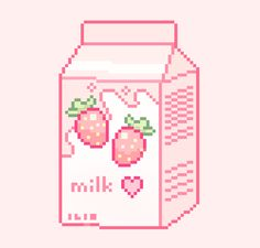 🍃 — my strawberry milk evolution! Aesthetic Gif, Pink Aesthetic, Aesthetic Wallpapers, Milk Drawing, Arte 8 Bits, Milk Photography, Milk Packaging, Anime Pixel Art, Milk Box