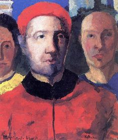 Triple portrait via Kazimir Malevich