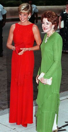 International Business Times:  Diana, Princess of Wales, in a dress by Jacques Azagury, with Elizabeth Dole, then President of the Red Cross, attending a Red Cross gala dinner in Washington, June 1997-Credit Tim Graham