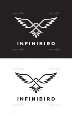 Infinity Bird Logo Template Vector EPS, AI
