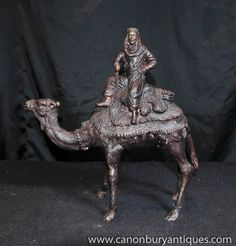 Photo of French Bronze Camel Statue Casting Bedouin Arab