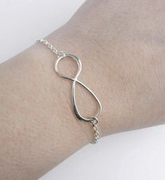 Infinity Bracelet Sterling Silver Large by MarisaDianeDesigns, $30.00