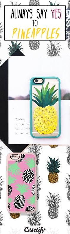 The PINEAPPLE of our eye. Best gifts for pineapple lovers right here: http://www.casetify.com/artworks/uCFv8FDOXr