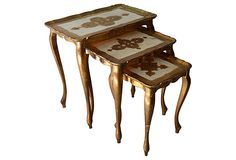Gilt Florentine Nesting Tables from Nomadic Vintage  on OneKingsLane.com