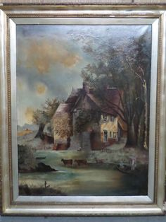 Antique Oil painting on Canvas ---- Very Old