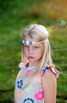 Flower Halo  Flower Headband  Rose Felt by PACraftsfromtheHeart
