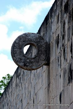 Hoop at the great ball court, Chichen Itza
