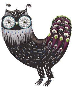owl by Klaus Haapaniemi Animal Totems, Nordic Design, My Spirit Animal, Animal Design, Online Art, Textile Art, Art Lessons, Illustrators, Poster Prints