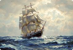 Old Sailing Ship Paintings