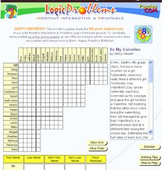 Be My Valentine interactive logic puzzle -  Pinned by @PediaStaff – Please Visit http://ht.ly/63sNt for all our pediatric therapy pins