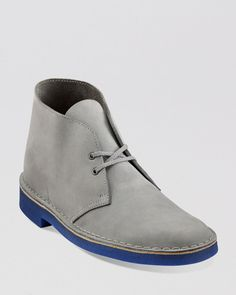 Clark's men's perforated nubuck shoes | Clarks Nubuck Chukka Boots in Gray for Men (Grey/Blue)