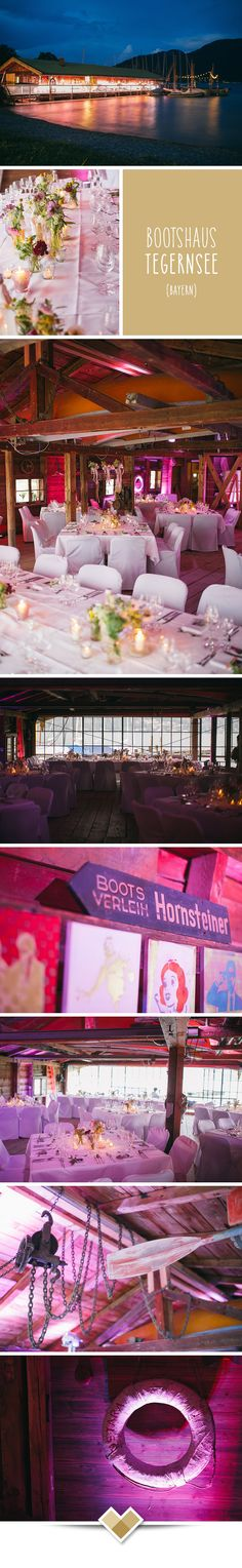 Das Bootshaus am Tegernsee ist die ideale Hochzeitslocation in Bayern. Hier könnt ihr eure Hochzeitsfeir von edel über klassisch bis Party und launchig gestalten. Je nach Art der Bestuhlung und Veranstaltung können bis zu 100 Personen feiern. Mehr zu dieser bayrischen Hochzeitslocation: http://hochzeits-location.info/hochzeitslocation/bootshaus-tegernsee Fotos © Forma photography, http://www.formafoto.net/