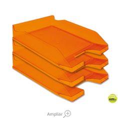 BANDEJA SOBREMESA PLASTICO Q-CONNECT NARANJA TRANSPARENTE Tray, Orange, Color Naranja, Dessert Tray, Shopping, See Through, Trays, Closets, Offices