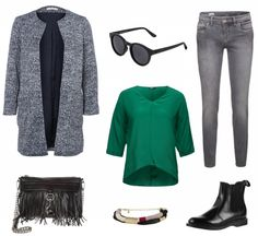 #Herbstoutfit Green ♥ #outfit #Damenoutfit #outfitdestages #dresslove