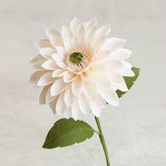 My floret ( Paper Dahlia, Crepe Paper Flowers, Paper Roses, Fabric Flowers, Flower Paper, Elegant Flowers, Faux Flowers, Diy Flowers, Flower Pots