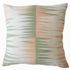 "Brayden Studio Wetzel Geometric Down Filled 100% Cotton Throw Pillow Size: 24"" x 24"", Color: Sundown"