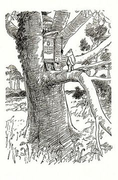 Winnie the Pooh. E.H. Shepard  My most favorite illustrator, and N.C. Wyeth.  Magical.