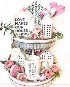 Style a tiered tray for Valentine's Day with this guide, plus 16 inspiring home decor examples Valentine Theme, Valentines Day Decorations, Valentine Day Crafts, Valentine Ideas, Valentines Day Quotes For Him, Valentines Day Desserts, Valentines For Kids, Happy Valentines Day, Her Wallpaper