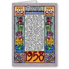Fun Facts Birthday – Born in 1958 Greeting Card