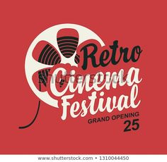 Vector Retro Cinema Festival Poster Old Stock Vector (Royalty Free) 1310044450