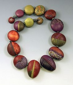 Raspberries in May, polymer clay jewelry by Loretta Lam
