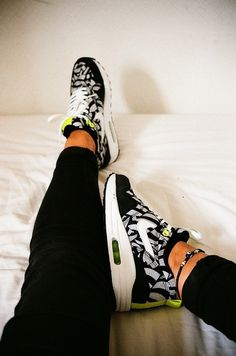 new product e0c1f 9b714 shoes nike zebra nike black grey green size 10 nike air max black and white  nike air nike air max 1 print printed shoes neon yellow trainers