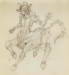 Oberon ceantaur skin (sketch) by thunderalchemist18