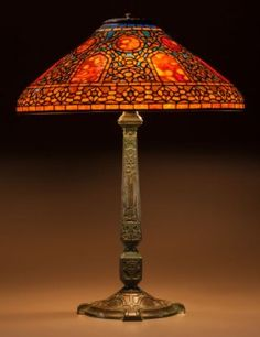 60004: Extremely Rare Tiffany Studios Leaded Glass and : Lot 60004
