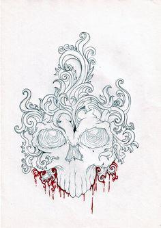 boroque skull by zioman.deviantart.com on @deviantART