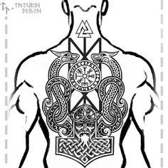 Popular Tattoos and Their Meanings Pagan Tattoo, Rune Tattoo, Norse Tattoo, Celtic Tattoos, Viking Tattoos, Tribal Tattoos, Body Art Tattoos, Sleeve Tattoos, Belly Tattoos