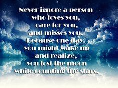 Never ignore...