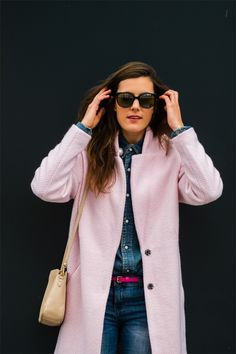 Outfit: Pink & Denim | The Pastel Project {fall/winter 2014} #fashionblogger