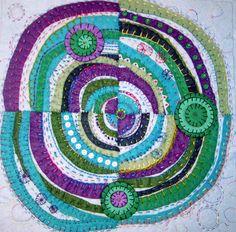Jane LaFazio - Recycled Circles in wool felt pillow