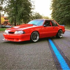 Red LX Notchback Mustang