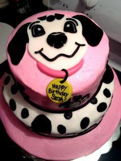 cute dog cake