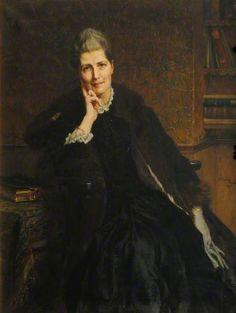 """Madeline Shaw Lefevre, Principal (1879–1889)"", 1890, by George Percy Jacomb-Hood (British, 1857-1929)."