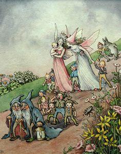 Fairies and Elves Ida Rentoul Sherbourne Outhwaite (1888-1960) Australia