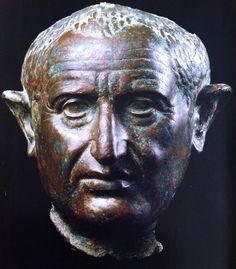 Bronze bust of Vespasian.