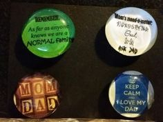 Check out this item in my Etsy shop https://www.etsy.com/listing/227189375/set-of-4-strong-glass-family-magnets #magnets #father  #dad #fathersday #mother # mom #mothersday #mothothersdayomdad #family