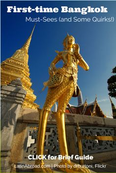First-time Bangkok visitor? Click photo for the must-sees (and some QUIRKS!) by LatinAbroad.com | #Thailand #Bangkok