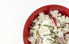 Cottage cheese med reddiker og gressløk