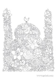 99 Creative Mosque Projects - Masjid Coloring Pages (in Arabic)