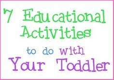 Raising Memories: 7 Educational Activities To Do With Your Preschooler via @Heather Lynne #healthyhabits #cgc
