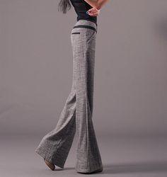 Pants}} Dark gray Women thin linen casual Pants Wide Leg by Nextchoice